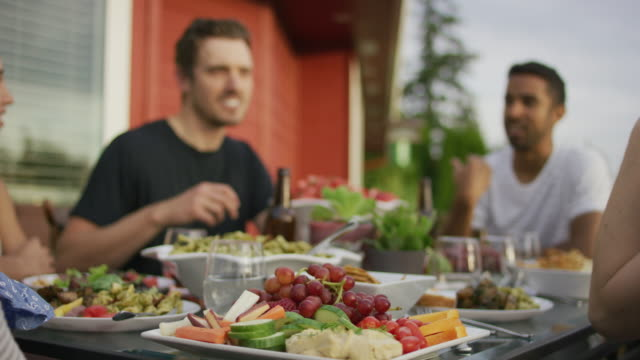 plate of fresh fruits and vegetables - portland oregon summer stock videos & royalty-free footage