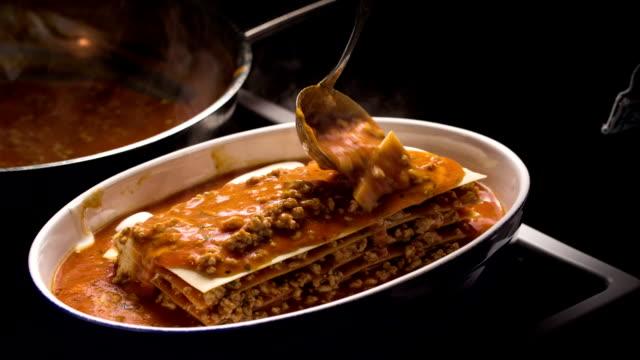 plate of lasagna - lasagna stock videos & royalty-free footage