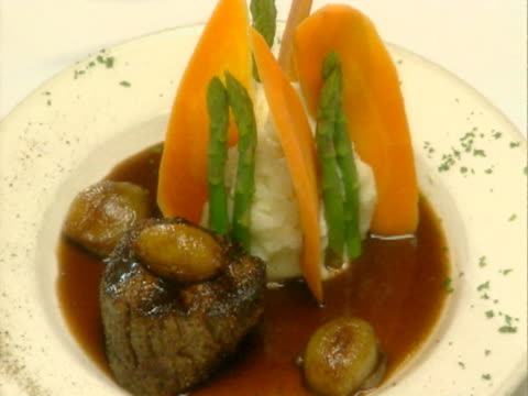 zo cu plate of mashed potatoes and carrots  - mashed potatoes stock videos & royalty-free footage