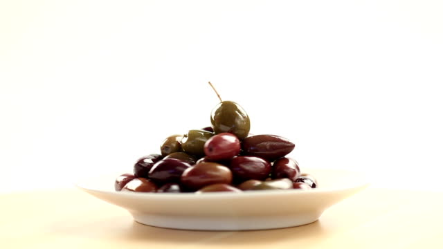 plate of olives - bowl stock videos and b-roll footage