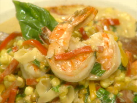 zo cu plate of sauteed shrimp  - saute stock videos and b-roll footage