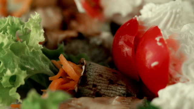 plate of vegetable snacks - garnish stock videos and b-roll footage