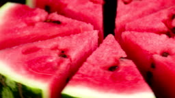 Plate with Slices of Watermelon