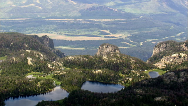 plateau above clarks fork yellowstone river  - aerial view - wyoming, park county, united states - yellowstone river stock videos and b-roll footage
