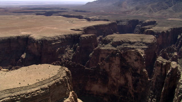 plateau above the little colorado river gorge - colorado plateau stock videos & royalty-free footage