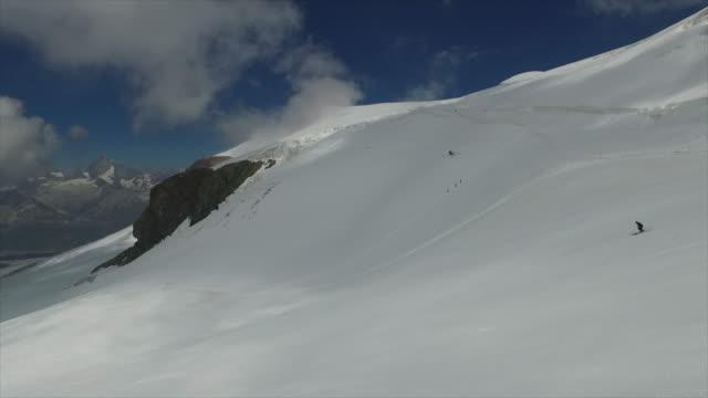 plateau rosa, theodul glacier - pennines stock videos and b-roll footage