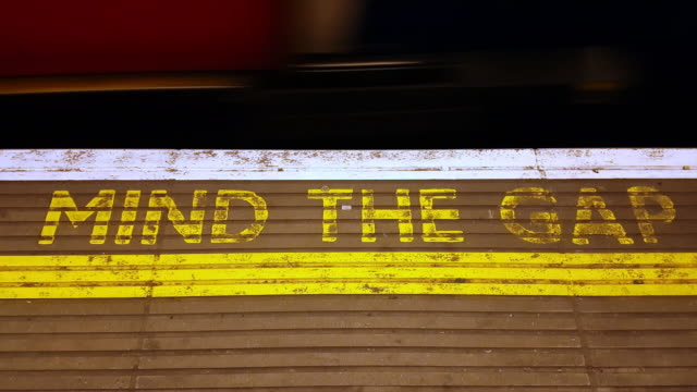 platform gap in london underground station - at the edge of stock videos & royalty-free footage