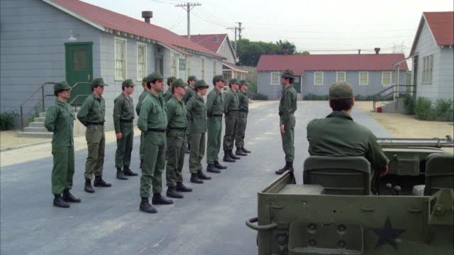 MS POV Platoon marching near barrack
