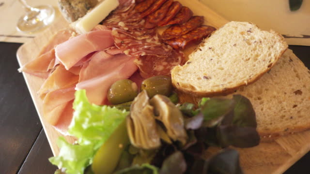 platter of cold cuts - tray stock videos and b-roll footage
