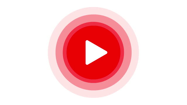 play button. live streaming template. red sign of streaming, broadcasting, online video. 4k video - corner stock videos & royalty-free footage