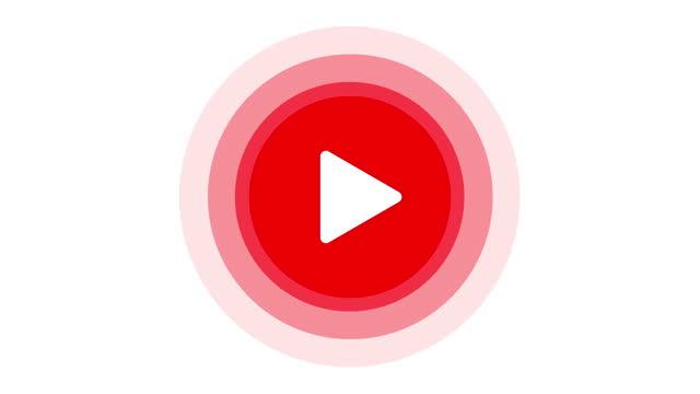 play button. live-streaming-vorlage. rotes zeichen von streaming, broadcasting, online video. 4k-video - spruchband stock-videos und b-roll-filmmaterial