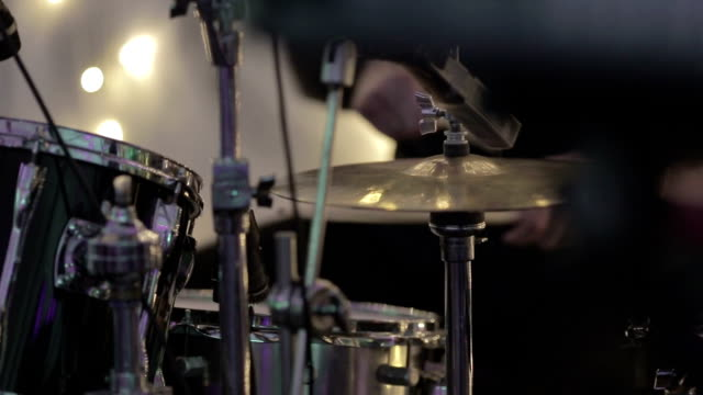 play drum - cymbal stock videos and b-roll footage