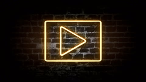 play icon neon sign - live event stock videos & royalty-free footage