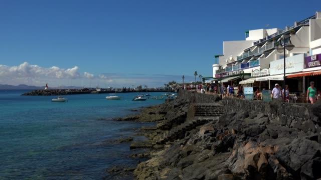 playa blanca, lanzarote, canary islands, spain, atlantic, europe - atlantic islands stock videos & royalty-free footage