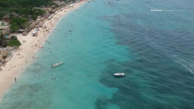 playa blanca of cartagena - colombia stock videos & royalty-free footage