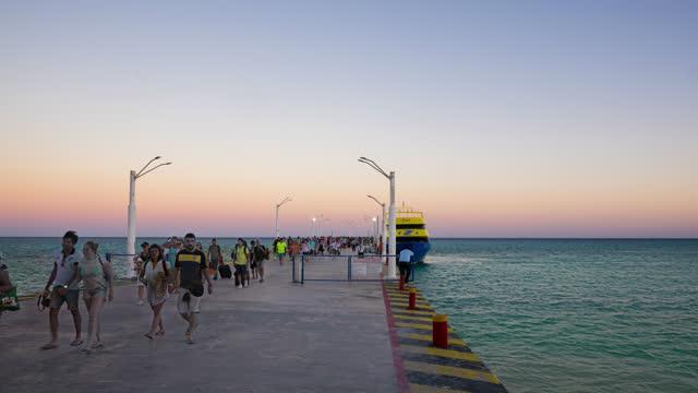 vídeos y material grabado en eventos de stock de playa del carmen timelapse mexico - playa del carmen