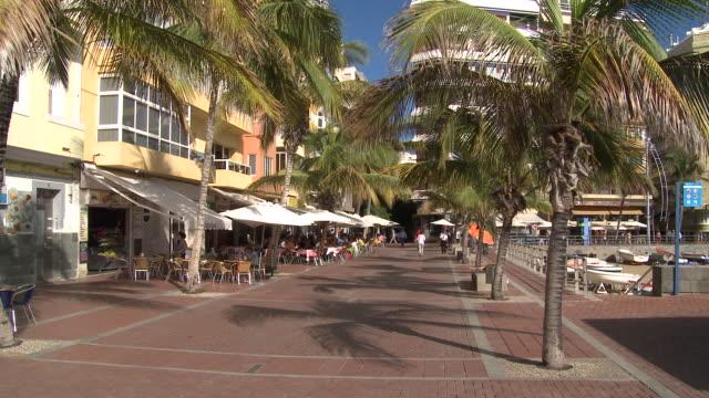 playa las canteras, las palmas, gran canaria - grand canary stock videos & royalty-free footage