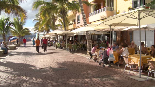 playa las canteras - grand canary stock videos & royalty-free footage