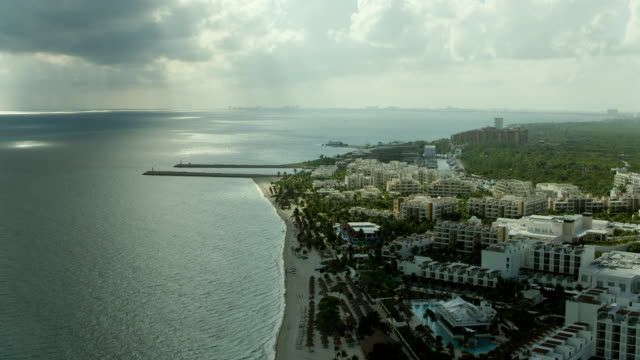 playa mujeres resorts and hotels at cancun - cancun stock videos & royalty-free footage