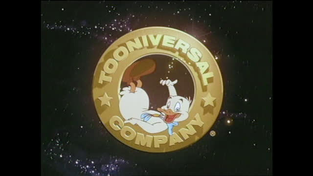 "animated logo of ""tooniversal company"" with pojo flying in from the stars - animator stock videos & royalty-free footage"