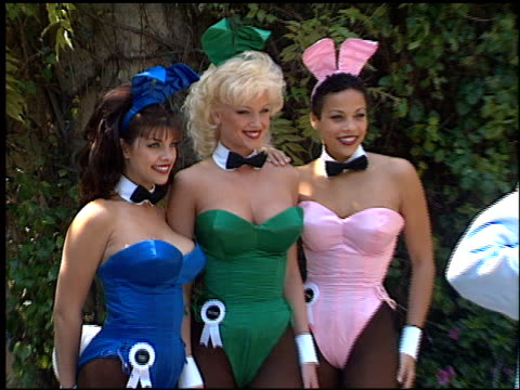 Playboy Bunnies At The 72nd Birthday Party For Hugh Hefner At Playboy Mansion In Los Angeles