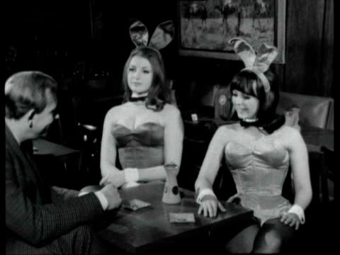 Playboy Bunny girl playing pool / Interview with two British bunny girls training to work in Playboy club in London they explain why they wanted to...