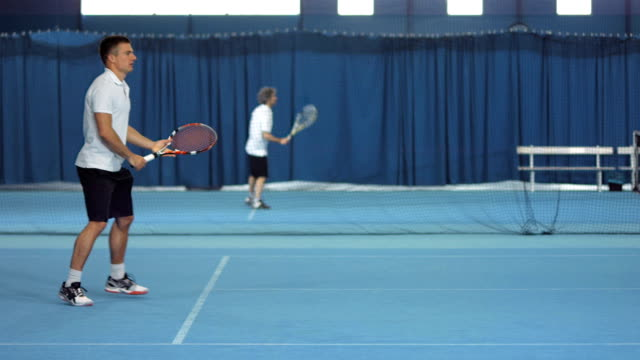 ls player hitting forehand and backhand strokes - forehand stock videos & royalty-free footage