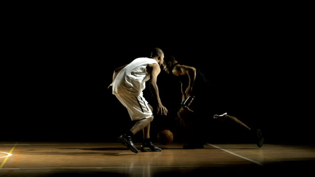player penetrating to the basket (super slow motion) - bouncing stock videos & royalty-free footage