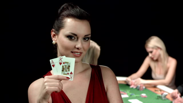 hd dolly: player with big slick starting poker hand - ace stock videos and b-roll footage