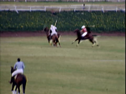 players competing in polo match - recreational horse riding stock videos & royalty-free footage