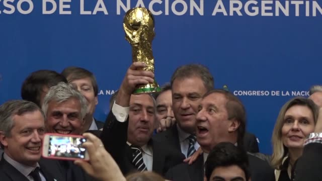 Players from Argentinas 1986 national football team celebrate the 30th anniversary of their World Cup win in Mexico