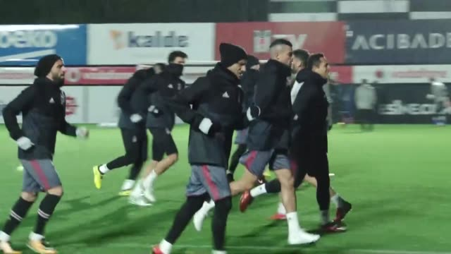 Players of Besiktas attend the training session ahead of UEFA Champions League Group G match between Besiktas and Porto at Vodafone Park in Istanbul...