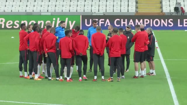 players of monaco attend a training session ahead of uefa champions league group g match between besiktas and monaco in istanbul turkey on october 31... - uefa champions league stock videos and b-roll footage