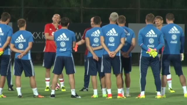 players of russian national football team attend a training session led by head coach stanislav cherchesov prior to a friendly match against turkey... - national team stock videos & royalty-free footage