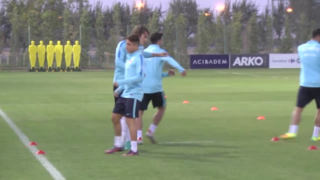 players of turkish national soccer team attend a training session ahead of soccer match with ukraine in konya turkey on october 03 2016 - konya stock videos and b-roll footage