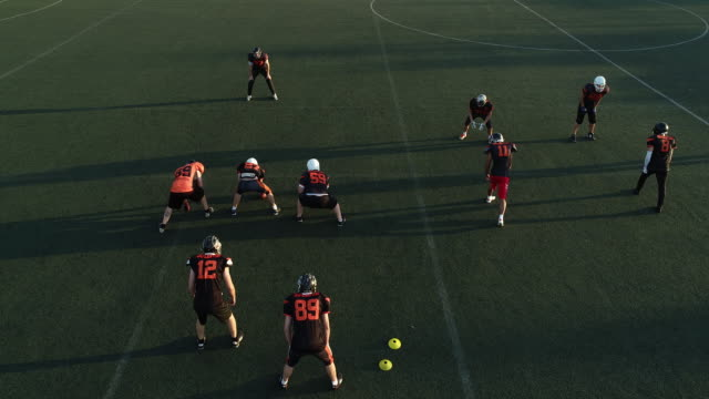 players on football practice outdoors - sports round stock videos & royalty-free footage
