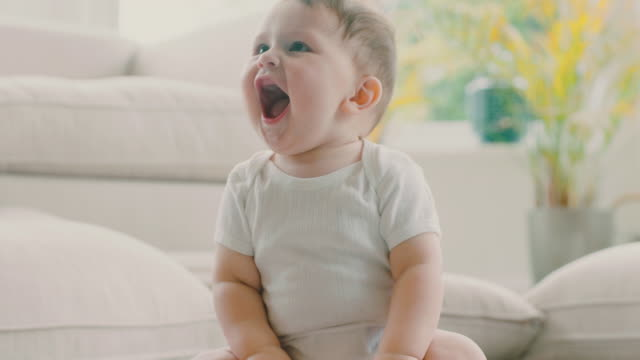 playful baby - one baby boy only stock videos & royalty-free footage