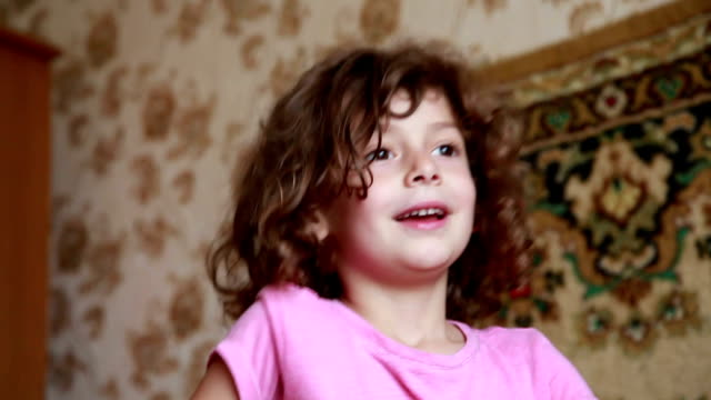 playful little girl headbanging - rock musician stock videos & royalty-free footage