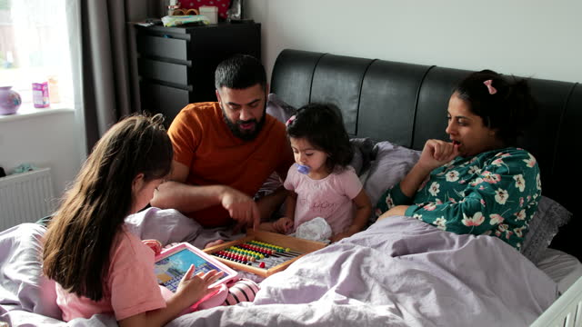 playful mornings - togetherness stock videos & royalty-free footage