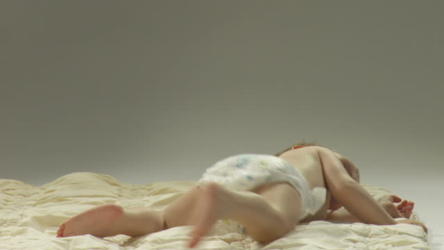 hd: playful toddler - diaper stock videos and b-roll footage