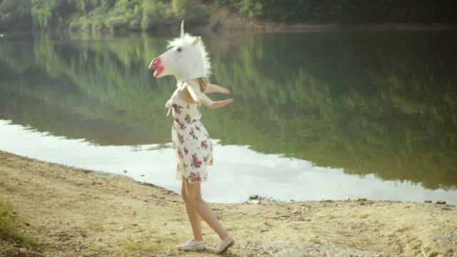 playful unicorn - surreal stock videos & royalty-free footage
