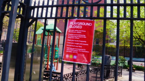 playground closed sign - prevention stock videos & royalty-free footage