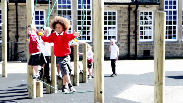 playground fun - playground stock videos & royalty-free footage