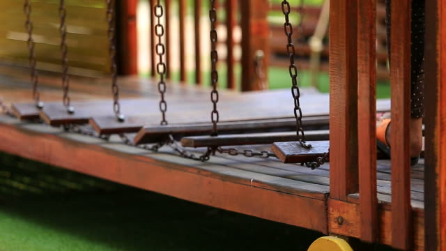 playground in a park - soft focus stock videos & royalty-free footage