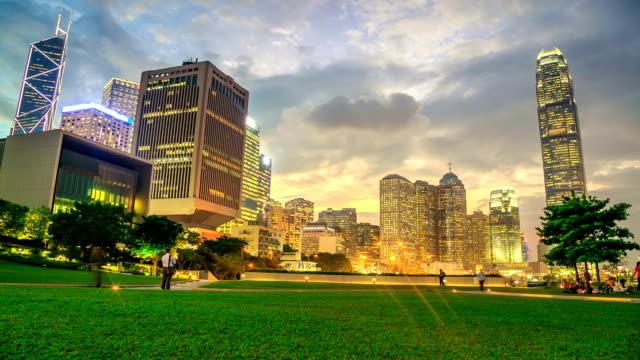 Speeltuin Park In de stad-zonsondergang