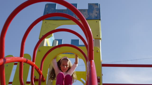 playground with girl in slow motion - 40 seconds or greater stock videos & royalty-free footage