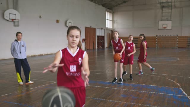 playing and teaching at basketball court - charging sports stock videos & royalty-free footage