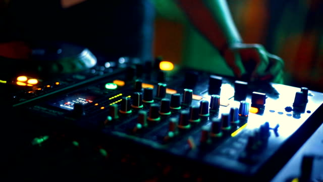 dj playing at a party. - compact disc player stock videos & royalty-free footage