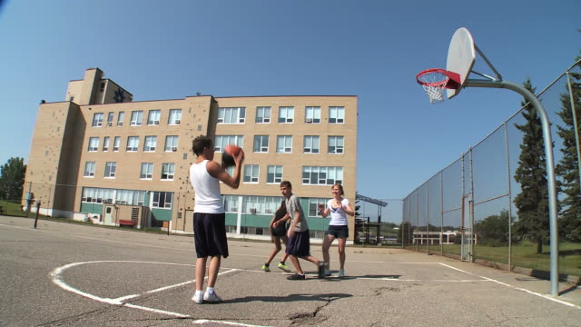 hd: playing basketball - basketball stock videos and b-roll footage