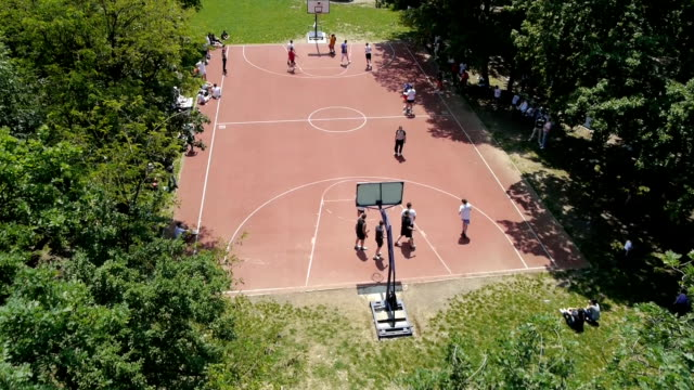 playing basketball - court stock videos and b-roll footage